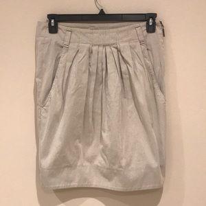 Brunello Cucinelli Straight Skirt Brown/Cream